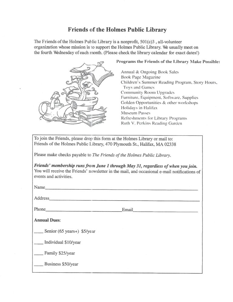 Friends of the Library – Holmes Public Library