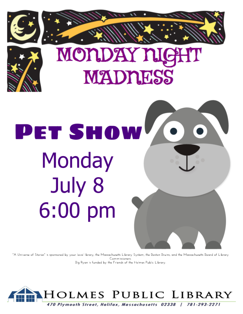 Register for the Pet Show – Holmes Public Library
