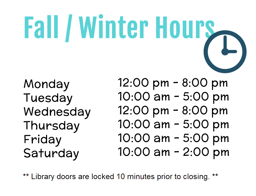 FALL / WINTER HOURS
